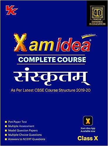 Xam Idea Complete Course Sanskrit for CBSE Class 10 - 2020 Exam