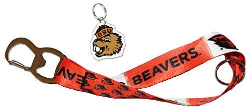 Oregon State Beavers Key Strap Bottle Opener and Key Ring Gift Set