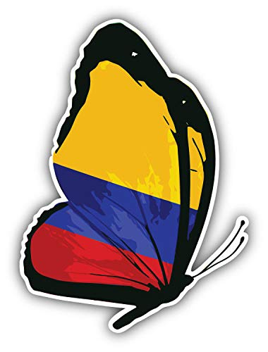 JJH Inc Colombia Flag Butterfly Vinyl Decal Sticker Waterproof Car Decal Bumper Sticker 5