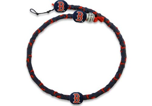 MLB Boston Red Sox Team Color Frozen Rope Baseball Necklace (Necklace Genuine Mlb)