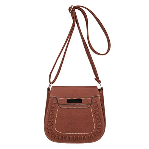 Tote Strap Crossbody Pure Satchel Purses Brown Bag Shoulder Color Purse VEMOW Girl Bags Bags Leather Bag Clutches Phone Messenger Theft Handbag Women Vintage Backpacks Anti 88qHfwvnr