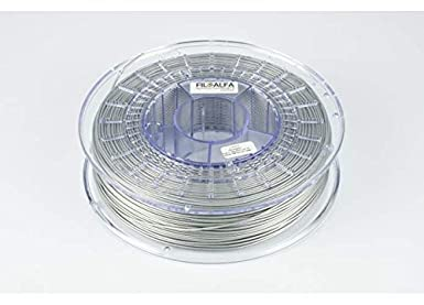 Filamento FiloAlfa, 1.75mm, PLA, GRIGIO METALLICO, bobina 700gr