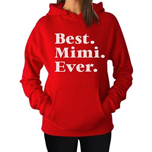 TeeStars - Best Mimi Ever for Mom Or Grandma Women Hoodie Medium Red