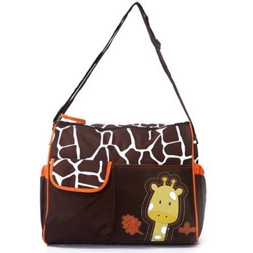 3pcs Giraffe Zebra Baby Nappy Changing Bags Large Sizes 3 Designs (Orange Giraffe) by just4baby