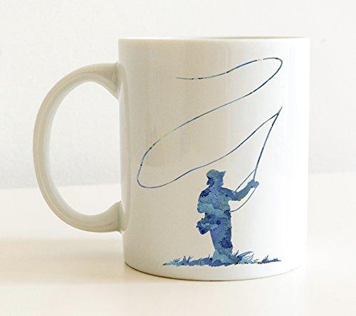 Fly Fishing Mug - Fly Fishing Lover Coffee Mug - 11oz - Unique Fly Fishing Gift