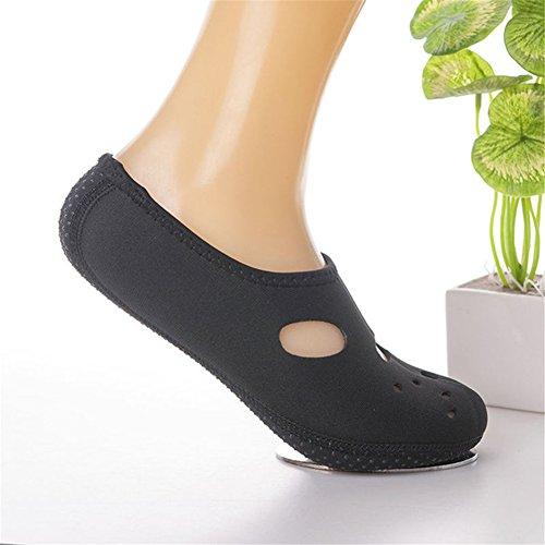 Interesting Water Shoes Barefoot Skin Socks Yoga Surf Exercise Slip Quick-Dry Aqua Beach Swim Water Sport Vacation(Black XXS) Black x3ZQN2thq