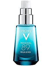 Vichy Brightening Under Eye Serum, Minéral 89 Eyes Hydrating Serum with Hyualuronic Acid + Pure Caffeine, Suitable for Sensitive Skin, 15 mL