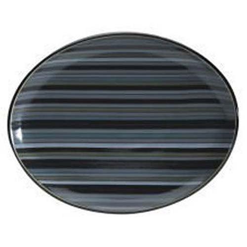 Denby Jet Stripes - Denby Jet Stripes Oval Platter by Denby