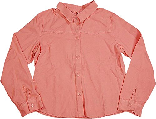 Ave.blu - Little Girls' Long Sleeved Button Down Corduroy Top, Pink, Stretch Fabric 2984-4 Corduroy Long Sleeved Shirt