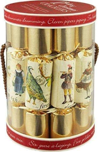 Baga Goodies English Holiday Christmas Crackers, Pack of 12-12 Days Decoration British Tradition