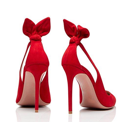 De Femme Mode Pointu Taille Club 39 Bout Transgenre Creux TLJ Red Fête Haut Plateforme Grande Talon Soirée 336 Sexy KJJDE Mariage Svqwv