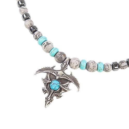 Skyler - SKULLS AND SPIRITS - Dragon Fenix Collar con Jasper ...