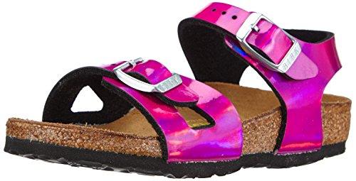 Birkenstock Rio Unisex-child Mirror Pink Birko-Flor Sandals 28 EU (10-10.5 N US Toddler)