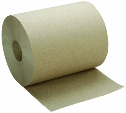SKILCRAFT 8540-01-591-5146 Recycled Fiber Single-Ply Continuous Roll Paper Towel, 600' Length x 7-7/8