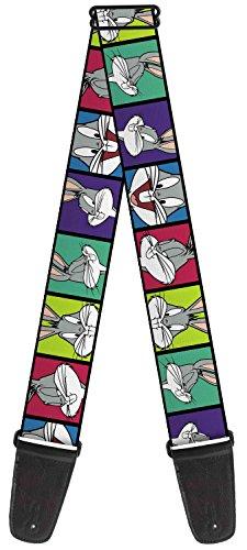 Funny Bugs (Looney Tunes Cartoon TV Series Color Blocked Bugs Fun Guitar Strap)