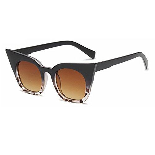 TIANLIANG04 Gafas Sol Gafas Il Vintage De Ojo De Gato Gafas De Sol De Mujer Negro De De Amarillo Tonos Uv400 De Gafas nero Moda Color Sol r7cOW6Crn