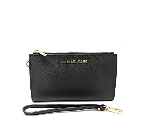 Michael Kors Women's Jet Set Travel Double Zip Wristlet 5