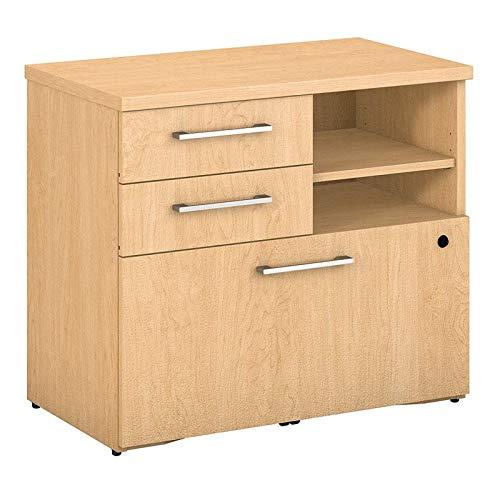 Bush Business Furniture 400 Series 30W Piler Filer Cabinet in Natural Maple