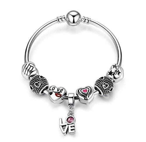 pulseras-de-mujer-romantic-love-kiss-bangle-with-heart-charm-de-mujer-para-damas
