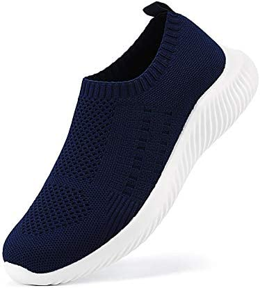 Ablanczoom Mens Athletic Walking Shoes Comfortable Lightweight Running Shoes Casual Breathable Knit Slip on Sneakers