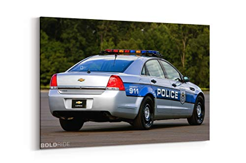 2012 Chevrolet Caprice Police Muscle F - Canvas Wall Art Gallery Wrapped 18