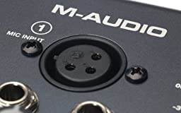 M-Audio M-Track | Two-Channel Portable USB Audio and MIDI Interface (24-bit/48 kHz )