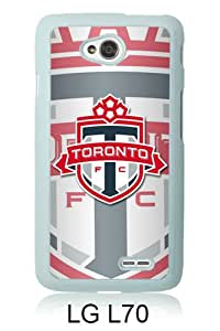 Toronto FC 07 White Abstract Custom Design LG L70 Protective Phone Case