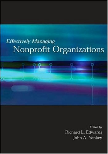 Effectively Managing Nonprofit Organizations