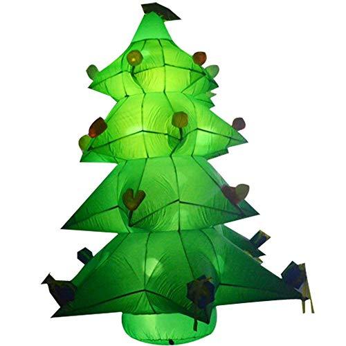 Árbol de navidad inflable alto de 11.5 pies con regalos con luces LED y ventilador de aire para decoración de patio al aire...