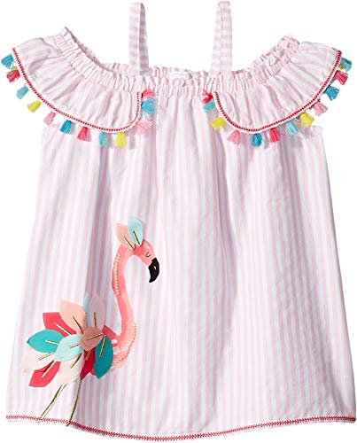 Mud Pie Baby Girl's Flamingo Stripe Dress (Toddler) Pink 3T (Mud Pie Dresses Girls 3t)