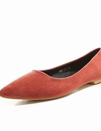 PDX/ Damenschuhe - Ballerinas - Outddor / Lässig - Mikrofaser - Flacher Absatz - Komfort / Spitzschuh / Modische Stiefel -Braun / Grau / , orange-us7.5 / eu38 / uk5.5 / cn38 , orange-us7.5 / eu38 / uk