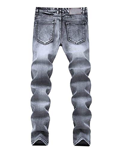 Pantaloni Slim Grau Skinny Base Jeans Da Elodiey Chinos Giovane Denim Uomo Stretch Fit In Bw0dWqO