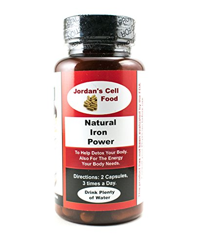 Natural Iron Power, (Similar to Dr. Sebi's Bio-Ferro Capsules) Qty: 90 Capsules 100% Natural