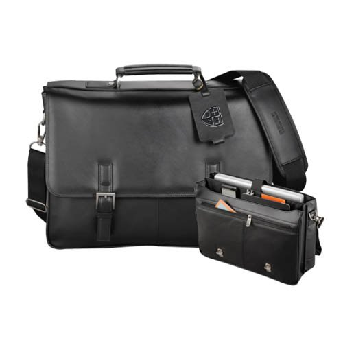 St. Lawrence Kenneth Cole Manhattan Leather Compu Messenger 'Official Shield Debossed' by CollegeFanGear