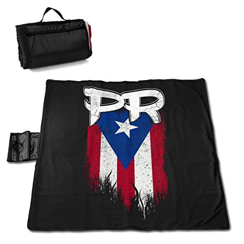 Beach Picnic Blanket Puerto Rico Pr Flag Waterproof Extra Large Outdoor Handy Mat Sandless Camping Travelling Accessories Portable Family Tote On Grass Music Festivals Quick Dry Bag