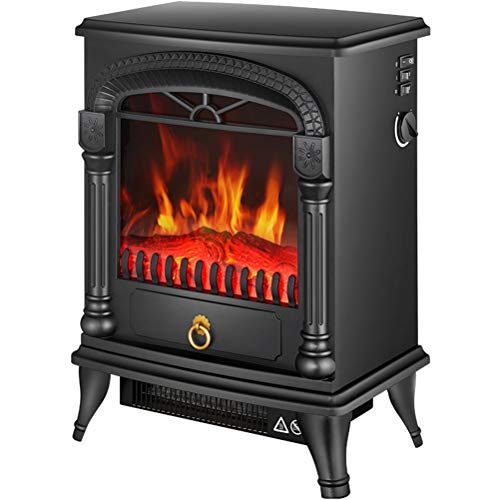 Cheap GFYWZ Electric Stove - 3D Realistic Flame Effect Stove - Portable Electric Stove - Heater Electric Fire Place/Fireplace - with Real Log Flame Effect A Black Friday & Cyber Monday 2019
