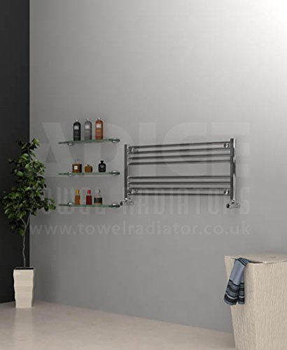 Adige 1000mm Wide 400mm High Chrome Flat Horizontal Towel Radiator