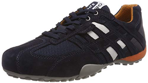 Geox Men's Snake Fashion Sneaker (42/9, Navy)