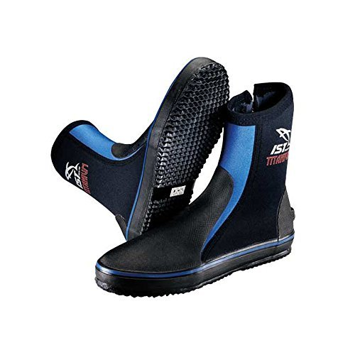 IST Titanium Sole with Toe/Heel Caps & Spandex Lined Boots for Scuba Diving/ Snorkeling Diver 3mm Childs 5 (Ultra Boot Dive 5mm)