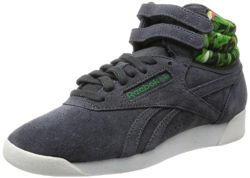 Reebok F/S Hi Eden - Zapatillas de Deporte de cuero mujer gris - Gris (Gravel/Nice Green)