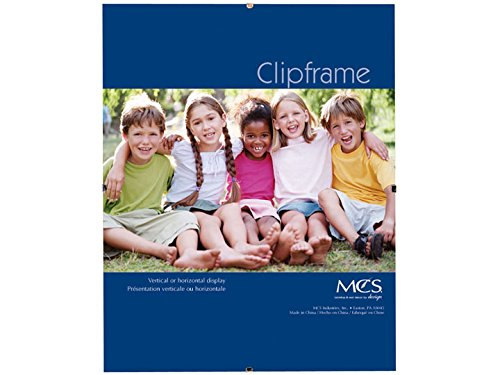 MCS 12x16 Inch Glass Clip Frame (Glass Transparent Picture Frame)