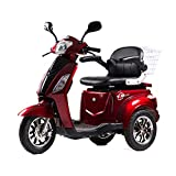 LU-500W Mobility Electric Recreational Outdoors Scooter 48V20AH with Three Speeds, 14/22/32kmph - Red