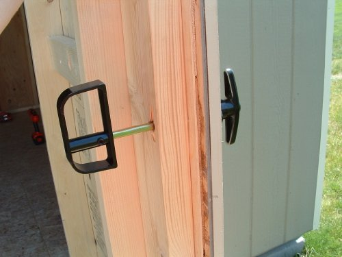 Shed Door T-handle Lock Set 4-1/2\