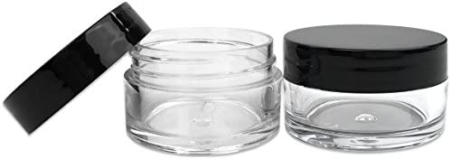 2470d9f68631 Beauticom 12 Piece 20g/20ml USA Acrylic Round Clear Jars with Lids for Lip  Balms, Creams, Make Up, Cosmetics, Samples, Ointments and other Beauty ...
