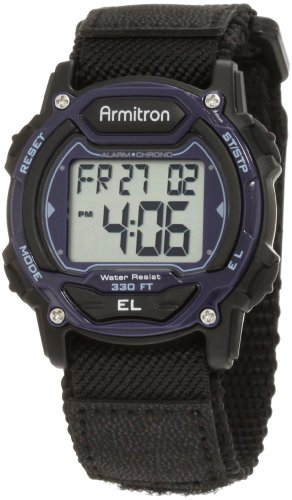 Price comparison product image Armitron Sport Unisex 45/7004BLU Sport Watch with Black Nylon Band