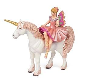 Papo - Elf bailarina y unicornio, figura con diseño Mundo de Hadas (2038822)
