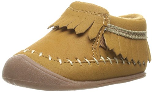 Carter's Every Step Stage 1 Girl's Crawling Shoe, Carly, Khaki, 3 M US Infant