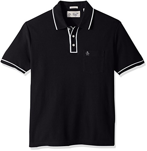 Original Penguin Men's The Earl Polo, Dark Sapphire/Bright White, Medium ()