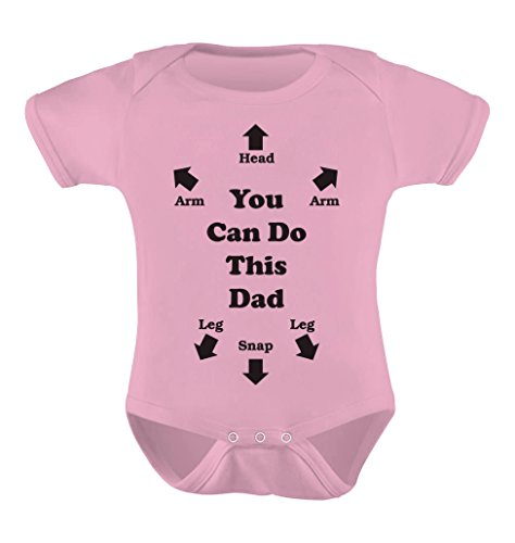 Daddy Onesies - TeeStars Unisex- You Can Do This Dad Baby 0 - 3 months Pink
