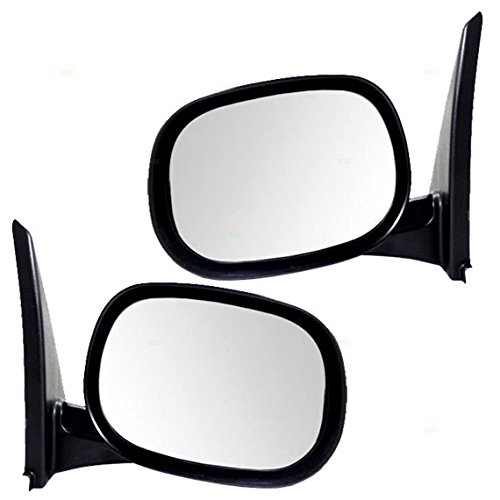 - Driver and Passenger Manual Side View Mirrors Textured Replacement for Dodge Van 55346947AE 55346946AC AutoAndArt